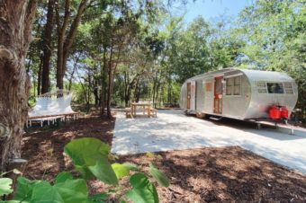 New Glamping Trend: Vintage Trailer and Airstream Retreat in Texas